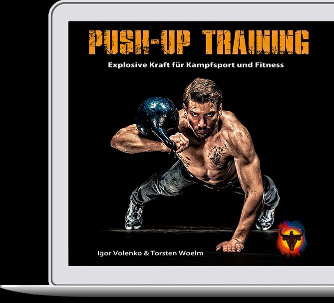 Push-up Training beinhaltet über 200 Übungen rund um den Liegestütz.